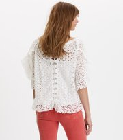 Odd Molly - wing vibes blouse - LIGHT CHALK