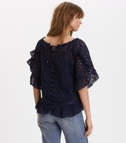 Odd Molly - Wing Vibes Bluse - FRENCH NAVY