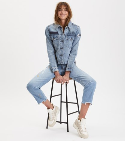 peace player denim jeans