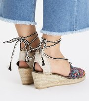 Vivid Garden High Espadrillo