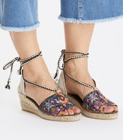 Odd Molly - vivid garden high espadrillo - FRENCH NAVY