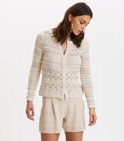Odd Molly - layer lover cardigan - LIGHT PORCELAIN