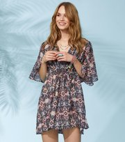 Wavy Blossom Beach Dress