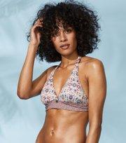 Odd Molly - blossom halterneck bikini top - ORCHID PINK