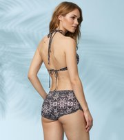 Odd Molly - blossom bikini shorts - BLACK