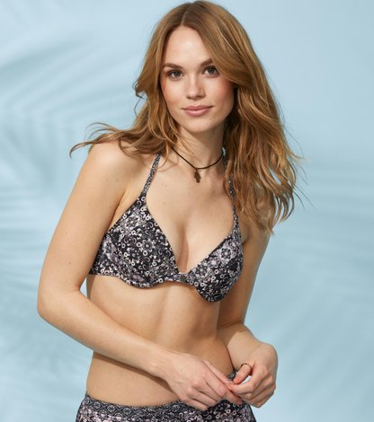 blossom push-up bikini top