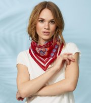 Odd Molly - rose mandela hair bandana - POPPY RED