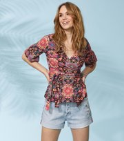 Flower Wrap Top