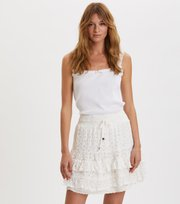 Odd Molly - swag blossom skirt - LIGHT CHALK