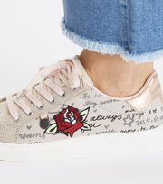 Odd Molly - Scribble Sneaker - LIGHT CHALK