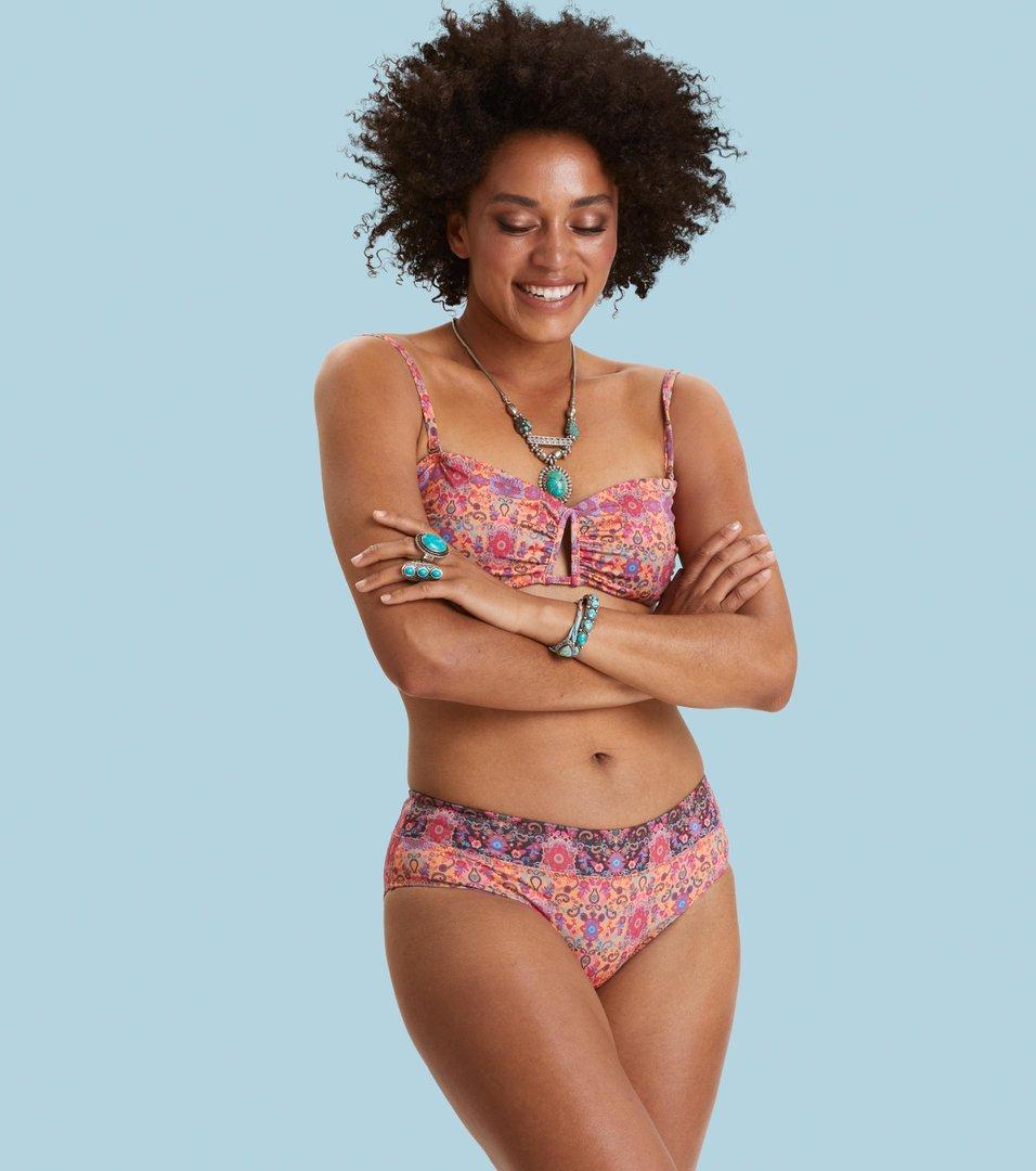 4bd55da981e Odd Molly - garden bandeau bikini top - APRICOT TAN