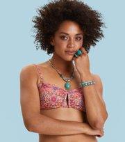 Odd Molly - garden bandeau bikini top - APRICOT TAN