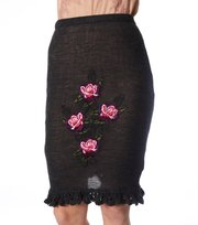 Odd Molly - the pen skirt - DARK GREY MEL