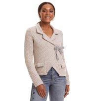 Odd Molly - lovely knit jacket - GREY MELANGE