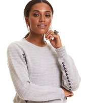 Odd Molly - the knit sweater - LIGHT GREY MELANGE