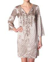 Odd Molly - sigh l/s dress - GOLDEN PORCELAIN