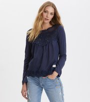 Odd Molly  - good mood top - DARK BLUE