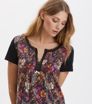 Odd Molly - blossom boss dress - BLACK MULTI