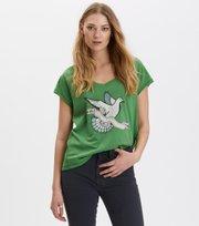 Odd Molly - breathe easy t-shirt - GREEN FOREST
