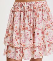Odd Molly - blossom skirt - LIGHT CHALK MULTI