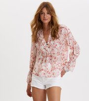 Odd Molly - blossom blouse - LIGHT CHALK MULTI