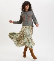Odd Molly - molly-hooked skirt - LICHEN GREEN