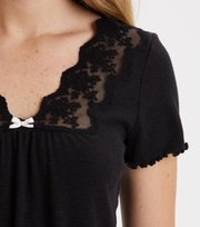 Odd Molly - secret break top - ALMOST BLACK
