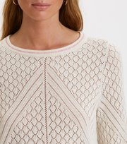 Odd Molly - leia sweater - LIGHT PORCELAIN