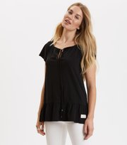 Odd Molly  - deep passion top - ALMOST BLACK