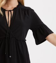 Odd Molly  - deep passion dress - ALMOST BLACK