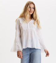 Odd Molly - embrace me l/s blouse - BRIGHT WHITE