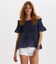 Odd Molly - majestic blouse - DARK BLUE