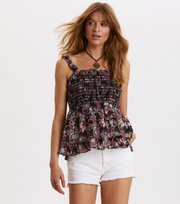 Odd Molly - majestic top - BLACK MULTI