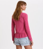 Odd Molly - good gracious cardigan - SUGAR PINK