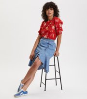 Odd Molly - so me skirt - DENIM CHAMBRAY