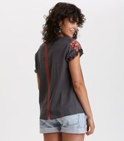 Odd Molly - no doubt blouse - ASPHALT