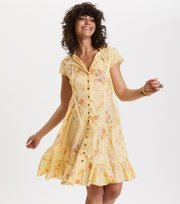 Odd Molly - marvelously free dress - VINTAGE-KELTAINEN