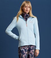 Odd Molly - storm mid layer solid jacket - BLUE ICE