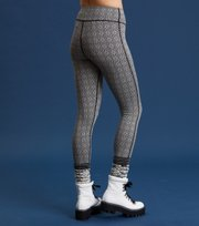 Odd Molly - spin to win mid layer tights - BLACK WHITE