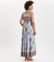 Odd Molly  - cruising around long dress - DOVE BLUE