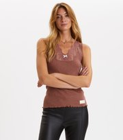Odd Molly - Rib-Eye Tanktop - RED TAUPE