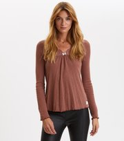 Odd Molly - Rib-Eye Top - RED TAUPE