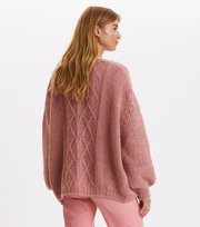 Odd Molly - Novelty Cardigan - DUSTY STRAWBERRY