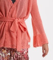 Odd Molly - My New Aesthetic Long Cardigan - PEACH BLOSSOM