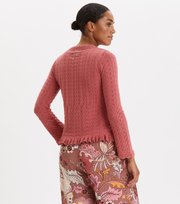 Odd Molly - Wrap Up & Go Sweater - DUSTY STRAWBERRY