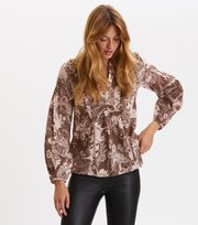 Odd Molly - Puff-Puff Blouse - WASHED BROWN
