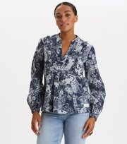 Odd Molly - Puff-Puff Blouse - DARK BLUE