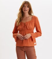 Odd Molly - Still My Love Blouse - SUNSET ORANGE