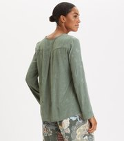Odd Molly - Puzzle Me Together Blouse - CARGO GREEN
