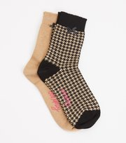 Odd Molly - Socky Sock - BLACK DOGTOOTH